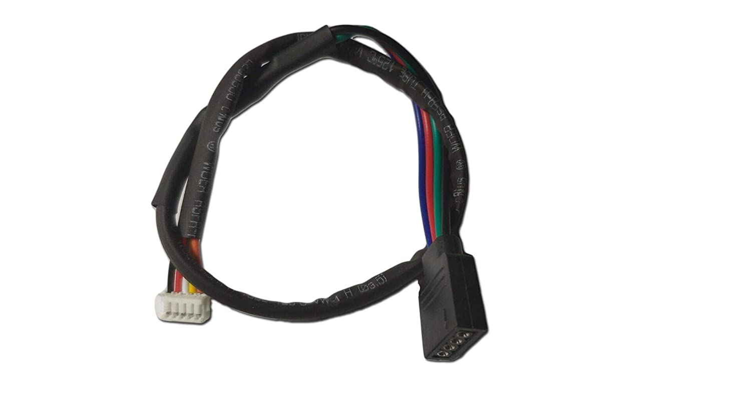 """AMD AM4 RGB Cable for AMD Wraith Spire RGB LED Light Socket AM4 4-Pin Connector CPU Cooler Fan (Cable Length: 12"""")"""