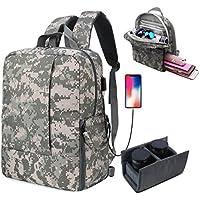 Fvino DSLR SLR Camera Backpack for Women Men Waterproof Camera Bag with Laptop