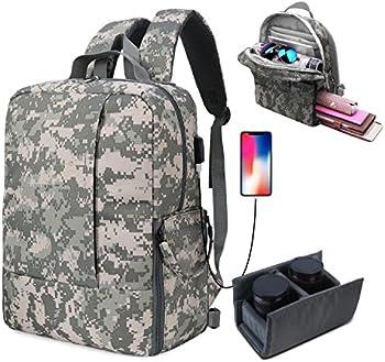 Fvino DSLR SLR Camera Backpack with Laptop