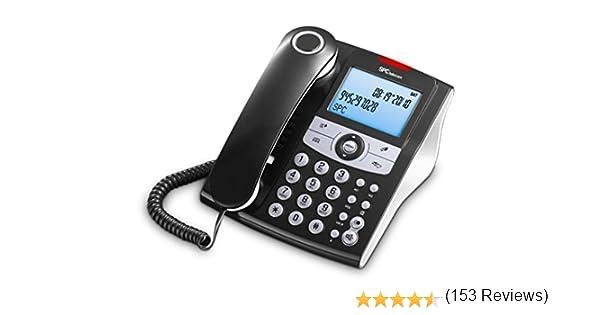 SPC Elegance ID teléfono fijo con agenda de 70 nombres y números ...