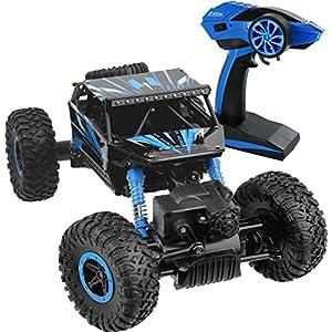 Click N' Play Rock Crawler RC Car Blue Vehicle - 51n1PGvsbzL - Click N' Play Rock Crawler RC Car Blue Vehicle