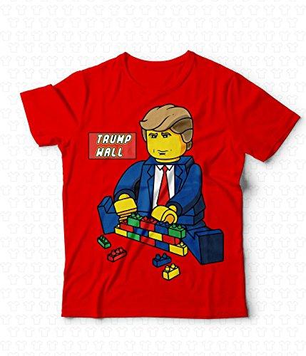 T Tshirt Generico Rosso Wall Maglietta Bricks Donald Lego Trump 258 shirt 7Uxwd4qBxZ