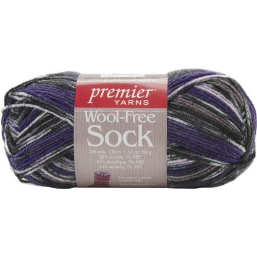 Premier Yarn Wool-Free Sock Yarn, Grapes, 3 Pack