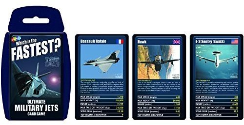 Ultimate Military Jets Top Trumps Card Game