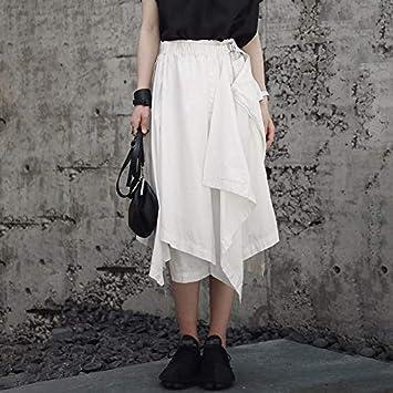 MIBKLPG Faldas para Mujeres Patchwork Faldas Irregulares con ...