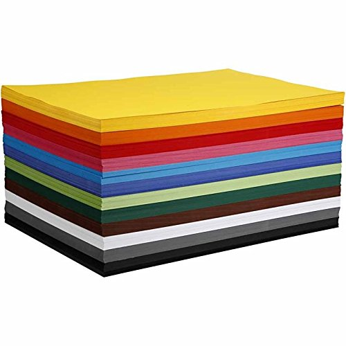 artdee/® DIN A2 Bastelkarton//Tonpapier 120 Blatt sortiert