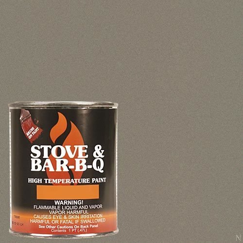 Stove Bright TI-8144 High Temperature Brush On Paint, 1200 Degree F Operating Temperature Range, 12 oz Aerosol, Metallic Brown