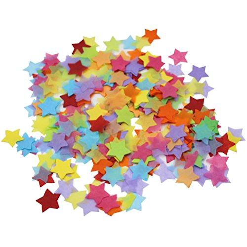 Mybbshower Rainbow Paper Star Confetti Table Scatter for Birthdat Party Pack of 4000 Pieces ()