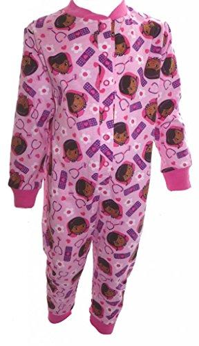 Doc McStuffins Little Girls Pale Pink Sleepsuit Age 18-24 Months -