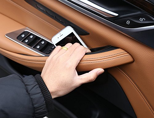 METYOUCAR Car Door Storage Box Phone Tray Accessories For BMW 5 Series G30 2018 (2PC front door)