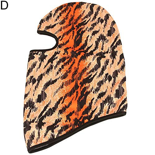 wintefei Fashion Flame Printed Outdoor Cycling Wind-Proof Elastic Face Mask Neck Gaiter D