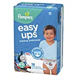 Pampers Easy Ups Pull On Disposable Training Diaper for Boys, Size 6 (4T-5T), Jumbo Pack, 18 Count