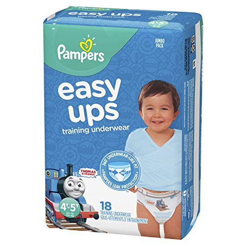 Pampers Easy Ups Pull On Disposable Training Diaper for Boys, Size 6 (4T-5T), Jumbo Pack, 18 Count by Pampers