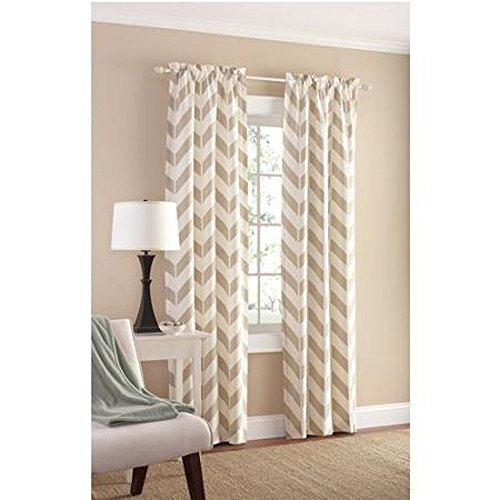 Tan Chevron Panel Pair