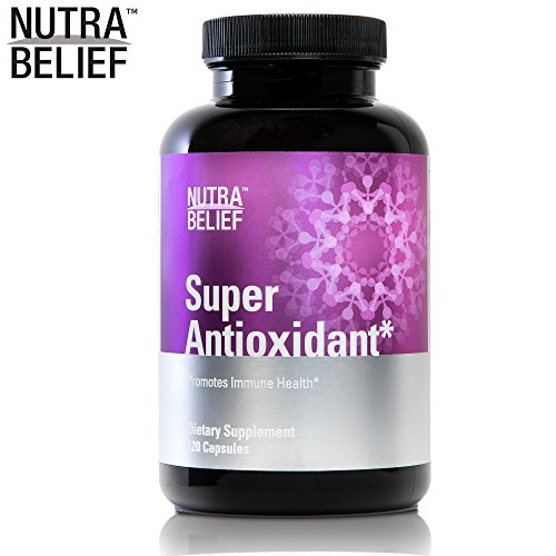- NutraBelief Daily Antioxidant Pills, Powerful Superfood Blend (Acai Berry & Pomegranate) Promotes Immune Health, Made in The USA - 120 Capsules
