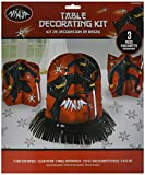 Amscan Boys Black Ninja Birthday Party Table Decorating Kit (23 Piece), Multicolor, One Size