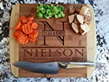 Personalized Cutting Board 11x14 Round Edge Bamboo Ð Nielson Style