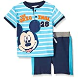 Disney Baby-Boys The Original Mickey Mouse French Terry Short Set,blue,0/3m