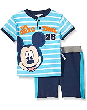 Baby-Boys The Original Mickey Mouse French Terry Short Set