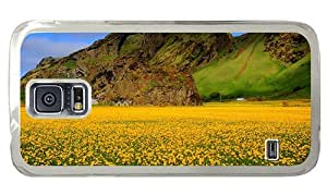 Hipster Samsung Galaxy S5 Case best yellow flower field PC Transparent for Samsung S5
