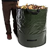 Large 72 Gallon Garden Reusable Collapsible Yard Waste Bag Leaf Collection Lawn Cleanup Composting