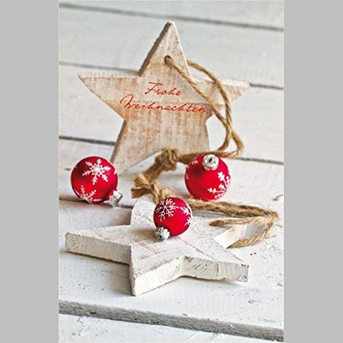 Corazones tarjeta de felicitación para Navidad deseos, Juego con sobres, B6 - Porto libre posible personalizada, Vertical, 11,5 x 17,5 cm refinado con ...