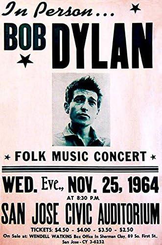 CANVAS Bob Dylan Concert Posters Art Print POSTER