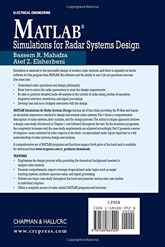 MATLAB Simulations for Radar Systems Design: Amazon co uk