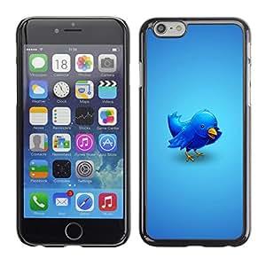 CaseCaptain Carcasa Funda Case - Apple Iphone 6 PLUS 5.5 / Cool Twitter Bird Illustration /