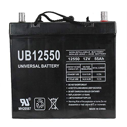 Universal Power Group 12V 55Ah Battery replacement for Pride Quantum 600 and 6000Z