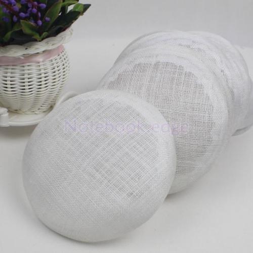 15cm Round Sinamay Hat fascinator Base Millinery Making Material Craft Supply White