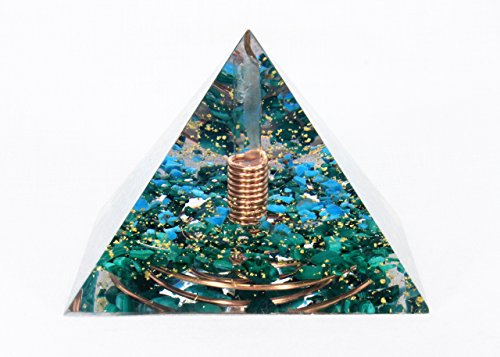 Crystal Money Talisman - Orgonite Orgone Pyramid - Energy Generator - MONEY AMULET TALISMAN - Crystal Gemstone Pyramid - Quartz Turquise Malachite - LARGE & POWERFUL! Add Yours to Cart Now!