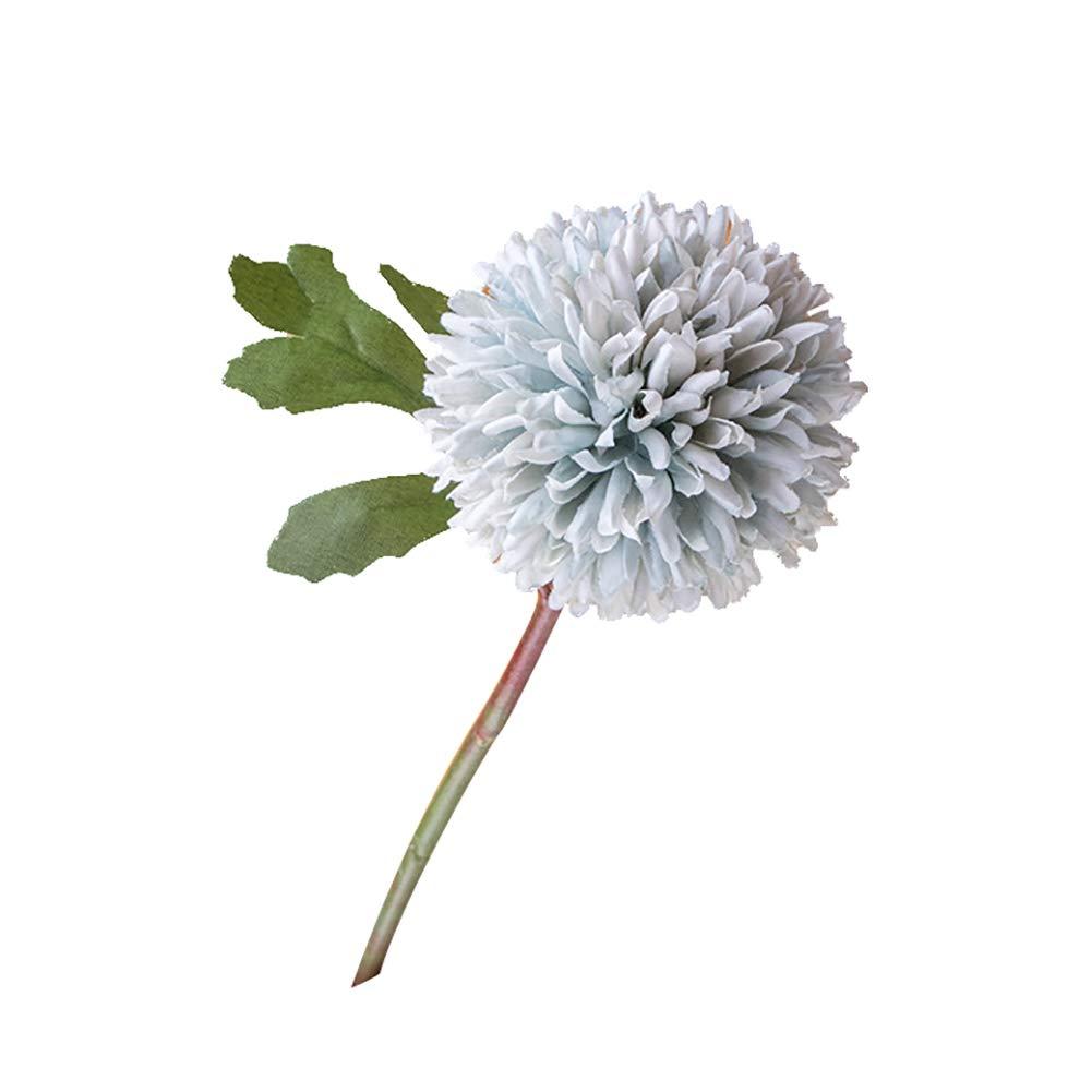 Connoworld-1Pc Artificial Chrysanthemum Cloth Simulation Flower Office Hotel Home Decor - Grey Blue