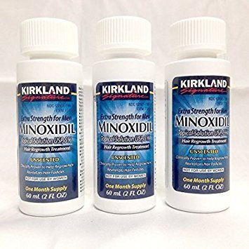 Kirkland Signature Minoxidil Hair Regrowth Solution For Men - 3 Month Supply ,Package Includes Child-Resistant Dropper Applicator (Minoxidil Hair Regrowth)