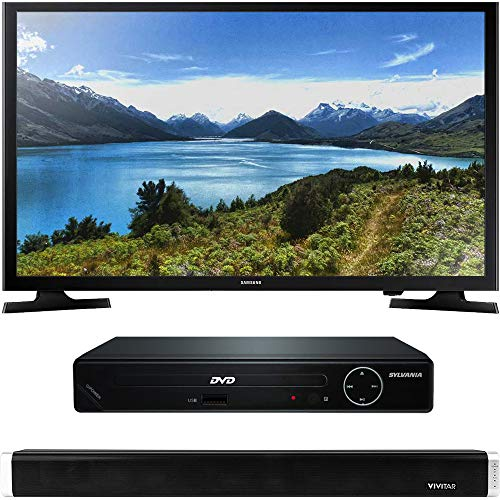 Samsung UN32J4000 32-Inch 720p LED TV with HDMI 1080p High Definition DVD Player and Vivitar 24-Inch Wall Mountable Wireless Bluetooth Soundbar