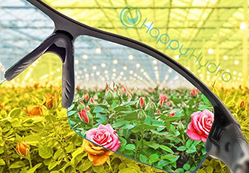 Happy Hydro Grow Room Glasses with Interchangeable Anti-Glare UV Lenses for HPS & MH Lights by Happy Hydro (Image #5)