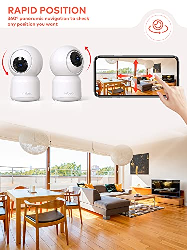Security Camera for Home Indoor, Mibao 1080P FHD WiFi Camera with Night Vision, Motion Detection, 2-Way Audio,Compatible with Android/iOS, Works with Alexa