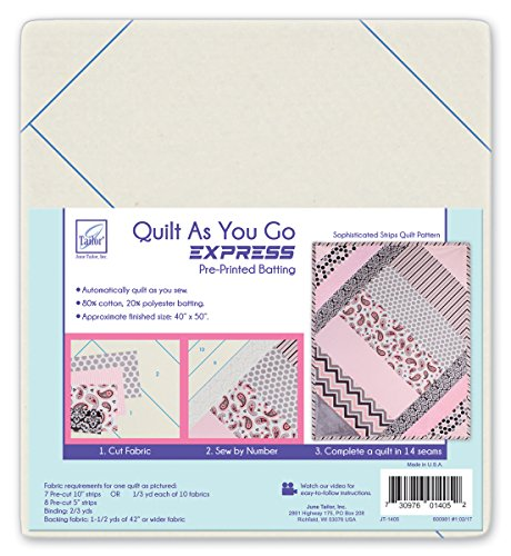 June Tailor JT-1405 Express Quilt Series Quilt As You Go- Sophisticated Strips by June Tailor