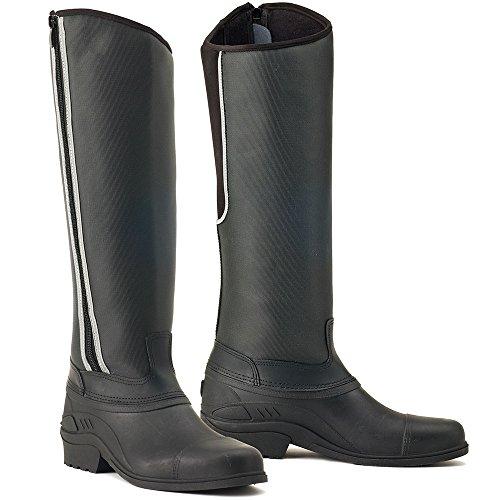 Rider Tall Boots (Ovation Blizzard Ladies Tall Zip Rider Boot (Black, 39))