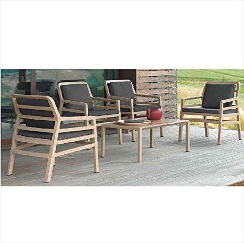 タカショー アリア テーブルチェア5点セット 『ガーデンチェア ガーデンテーブル セット』 ブラウン B075WPNZG5 本体カラー:ブラウン