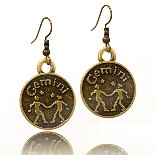 Stay Calm GEMINI Zodiac Sign Astrology Horoscope Hook Earrings Birthday Gift - All 12 Sun Signs Available (Gemini)