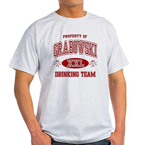 CafePress Grabowski Polish Drinking Team Light T-Shirt - 100% Cotton T-Shirt (T-shirt Light Team Drinking)