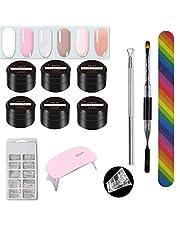 Awhao Gel Nail Starter Kit Gel Nail Polish LED Nail Lamp Manicure Tools Manicure Fast Extension Gel Set Poly Gel Kit