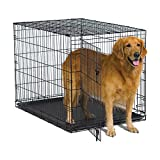 New World 42″ Folding Metal Dog Crate, Includes Leak-Proof Plastic Tray; Dog Crate Measures 42L x 30W x 28H Inches, Fits Large Dog Breeds Review