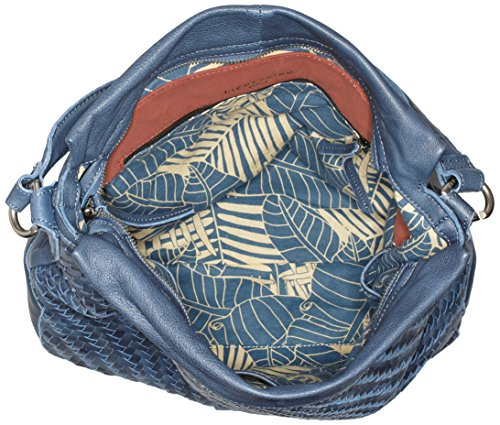 Liebeskind Berlin Kindamba Weave - Bolso de hombro Mujer Blau (deep water blue)