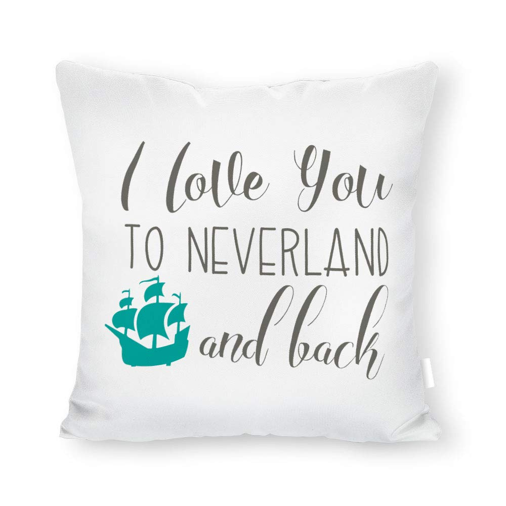 "Yohoba Peter Pan Neverland Pillow Cover, Nursery Pillow Cover, 18""x18"" in Kids Custom Sham, Neverland Lost Boy, Gift for Kid, Cushion Cover"