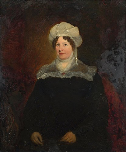 - Oil Painting 'British (possibly Sir William Boxall) - Portrait Of A Woman Aged About 45,about 1830' 10 x 12 inch / 25 x 31 cm , on High Definition HD canvas prints, Basement, Gym, Powder Room decor