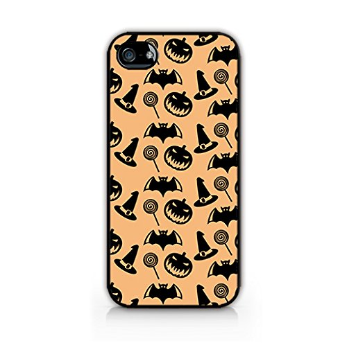MFVN - Halloween cases for iphone 5/5S - Halloween Icon Pattern Case - Pumpkins Bats Halloween Wallpaper - Hard Plastic Case For Iphone 5, Iphone 5S for $<!--$2.99-->