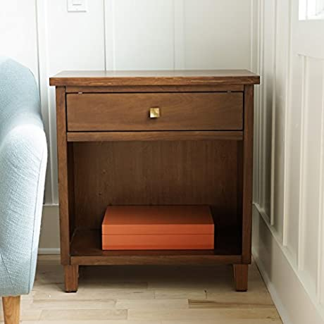 Hives And Honey Haven Home Stratton Deco Walnut Side Table