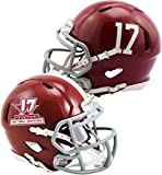 Sports Memorabilia Riddell Alabama Crimson Tide College Football Playoff 2017 National Champions Revolution Speed Mini Football Helmet - Fanatics Authentic Certified